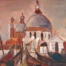 Arte: INTERESANTE PINTURA ORIGINAL VINTAGE DE VENECIA, FIRMADA (ILEGIBLE).. Lote 50088735