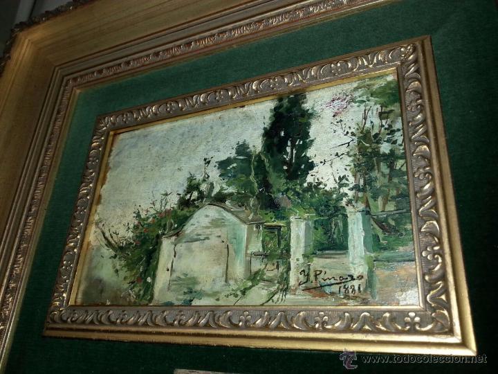 Arte: Óleo Sobre Tabla Ignacio Pinazo Camarlench 1881 CON CERTIFICADO - Leer Descripción - - Foto 2 - 50096804