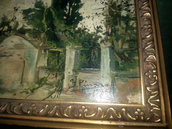 Arte: Óleo Sobre Tabla Ignacio Pinazo Camarlench 1881 CON CERTIFICADO - Leer Descripción - - Foto 3 - 50096804