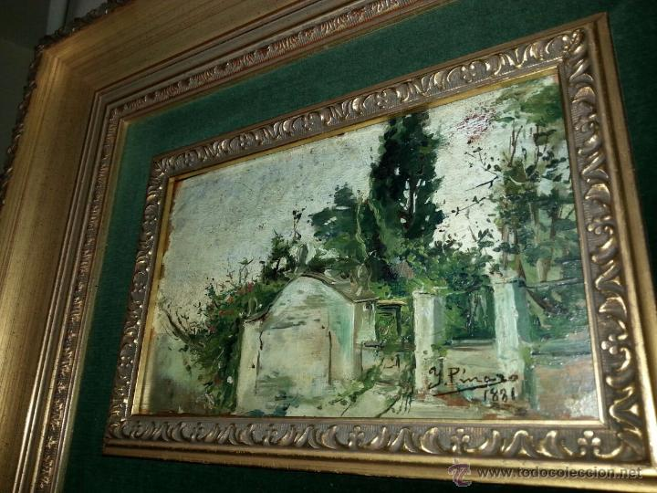 Arte: Óleo Sobre Tabla Ignacio Pinazo Camarlench 1881 CON CERTIFICADO - Leer Descripción - - Foto 4 - 50096804