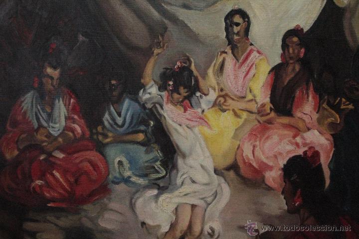 Arte: INTERESANTE OLEO SOBRE LIENZO, BAILAORA, 117X96CM - Foto 2 - 126301988