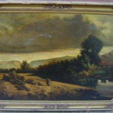 Arte: GRAN ÓLEO FIRMADO R. NEGREDO 10 DICIEMBRE DE 1877. Lote 50171119