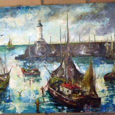 Arte: OLEO FIRMADO GALA TITULO LA BRETAGNE 1954 70X114 CM. Lote 50179552