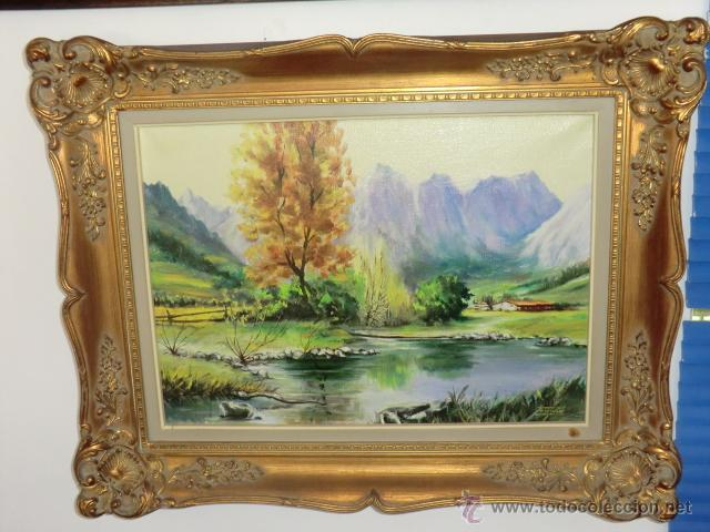 PAISAJE ESCUELA HOLANDESA MEDIADOS DEL SIGLO XX (Arte - Pintura - Pintura al Óleo Moderna sin fecha definida)