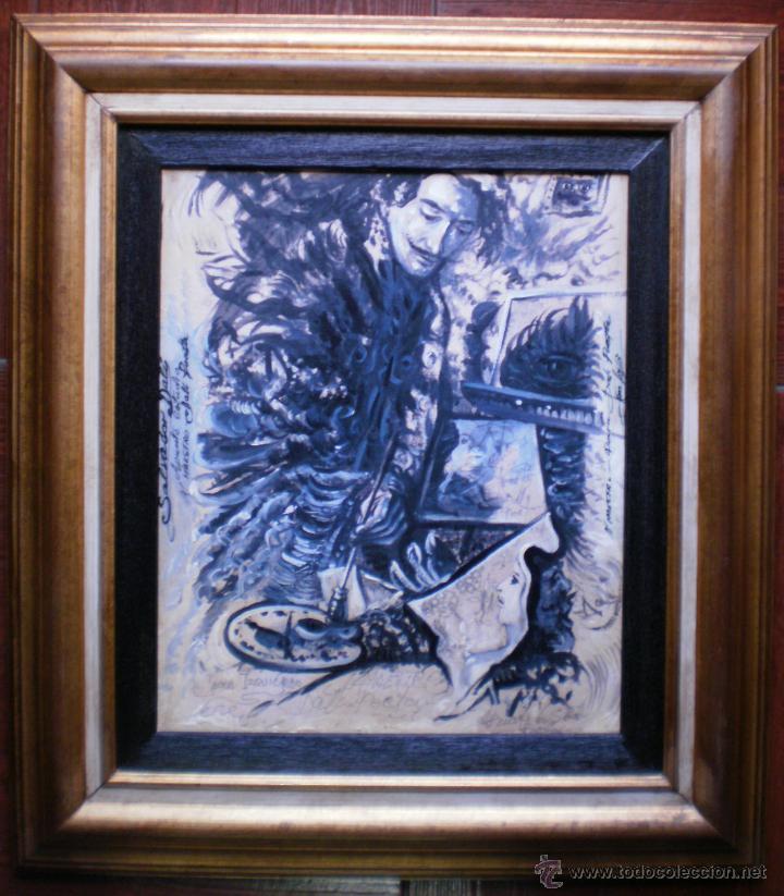JUAN IZQUIERDO- HOMENAJE A DALI (Arte - Pintura - Pintura al Óleo Contemporánea )