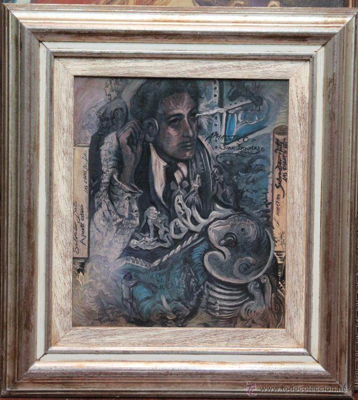 JUAN IZQUIERDO- APUNTE ESTUDIO LAS CARAS DE DALI (Arte - Pintura - Pintura al Óleo Contemporánea )