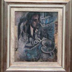Arte: JUAN IZQUIERDO- APUNTE ESTUDIO LAS CARAS DE DALI. Lote 50200369