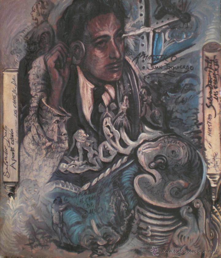 Arte: JUAN IZQUIERDO- APUNTE ESTUDIO LAS CARAS DE DALI - Foto 2 - 50200369
