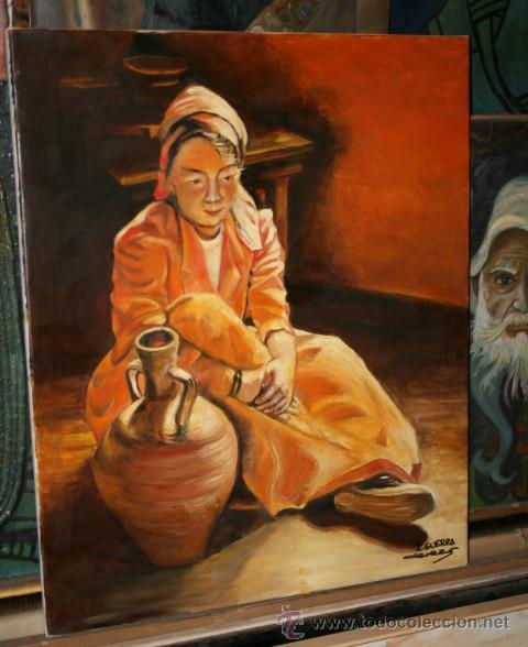CUADRO DEL ARTISTA DE ALCALA DE HENARES Y COPISTA DEL MUSEO DEL PRADO ANTONIO CEREZO - I. GUERRA 3º (Arte - Pintura - Pintura al Óleo Moderna sin fecha definida)