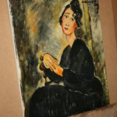 Arte - CUADRO DEL ARTISTA DE ALCALA DE HENARES Y COPISTA DEL MUSEO DEL PRADO ANTONIO CEREZO - MODIGLIANI - 50283243