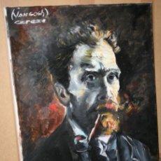 Arte: CUADRO DEL ARTISTA DE ALCALA DE HENARES Y COPISTA DEL MUSEO DEL PRADO ANTONIO CEREZO - VAN GOGH. Lote 50285062