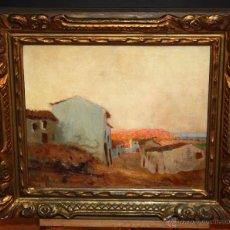 Arte: RAMÓN SANVISENS I MARFULL (BARCELONA, 1917-1987) OLEO SOBRE TELA. PAISAJE. Lote 50388139