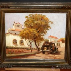 Arte: RAMÓN SANVISENS I MARFULL (BARCELONA, 1917-1987) OLEO SOBRE TELA. VISTA RURAL. Lote 91951099