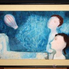 Arte: RAMÓN LLOVET (BARCELONA, 1917 - 1987) TÉCNICA MIXTA SOBRE PAPEL. PERSONAJES. Lote 50388970