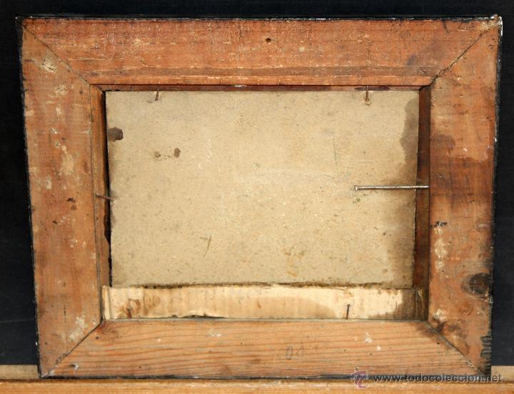 Arte: ILEGIBLE. OLEO SOBRE TABLA. PAISAJE COSTERO - Foto 3 - 50418650