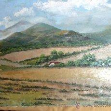 Arte: CERCANIAS DE LLINÓS. ÓLEO/LIENZO, ESCUELA CATALANA. FIRMADO R. VENTOSA, MEDIDAS 50X65 CMS.. Lote 50453051