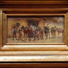 Arte: 2 MINIATURAS MILITARES 125X58 MM. OLEO SOBRE TABLA. GENERAL EDUARDO BANDA Y PINEDA,1857-1929. Lote 50460858