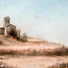 Arte: OLEO SOBRE LIENZO, S XIX Pº DEL XX, J. ALBAIJES, PRECIOSO PAISAJE RURAL. Lote 50518484