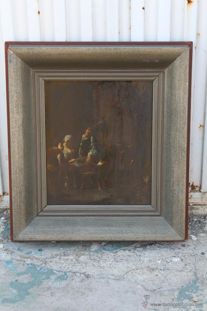 ESCENA ANTIGUA ORIGINAL FIRMADO OLEO-LIENZO (Arte - Pintura - Pintura al Óleo Antigua sin fecha definida)