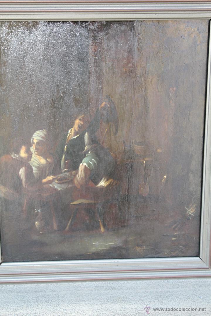 Arte: escena antigua original firmado oleo-lienzo - Foto 2 - 50609335