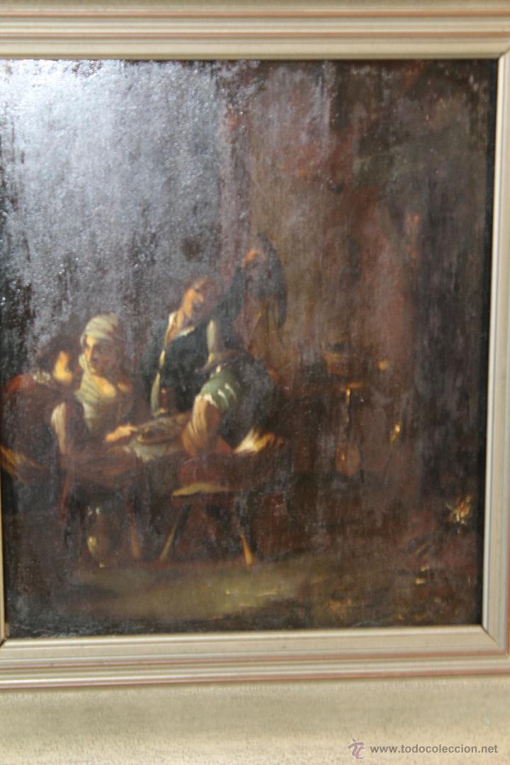 Arte: escena antigua original firmado oleo-lienzo - Foto 4 - 50609335