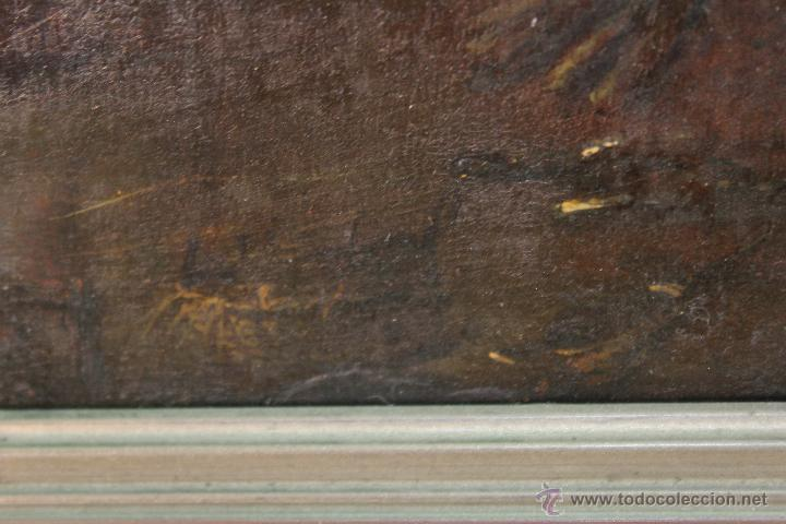 Arte: escena antigua original firmado oleo-lienzo - Foto 5 - 50609335