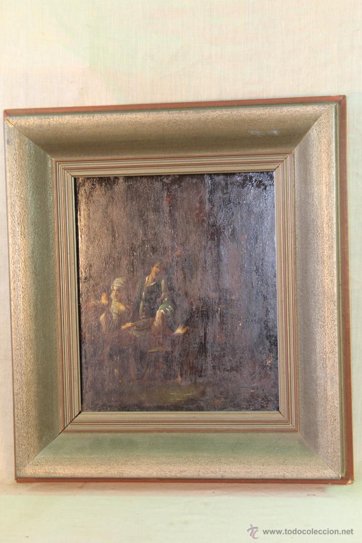 Arte: escena antigua original firmado oleo-lienzo - Foto 6 - 50609335
