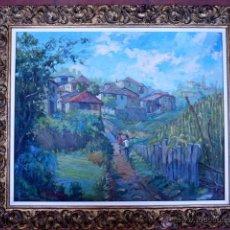 Arte: ÓLEO SOBRE TABLEX FIRMADO M.PASTOR.ESCUELA CATALANA .MUY BUEN TRAZO.MAESTRO. Lote 50654293