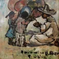 Arte: ÓLEO DEL ARTISTA DE VALENCIA, ASENTADO EN NAVARRA, HIGINIO BLAT. Lote 50726274