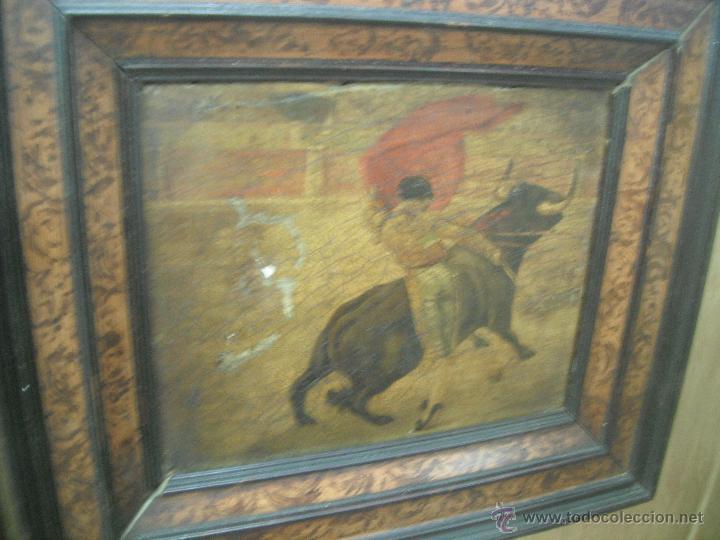 TABLA PINTADA TORERO (Arte - Pintura - Pintura al Óleo Antigua sin fecha definida)