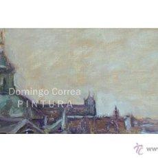 Arte: DOMINGO CORREA 'EL SALVADOR, TEJADOS DE SEVILLA' ÓLEO SOBRE TABLA. PAISAJE. Lote 50794800