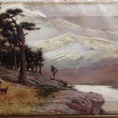 Arte: FRANCISCO GUTIERREZ RIVERA (1881-1942) PINTOR ESPAÑOL - ÓLEO SOBRE TELA. Lote 50809060