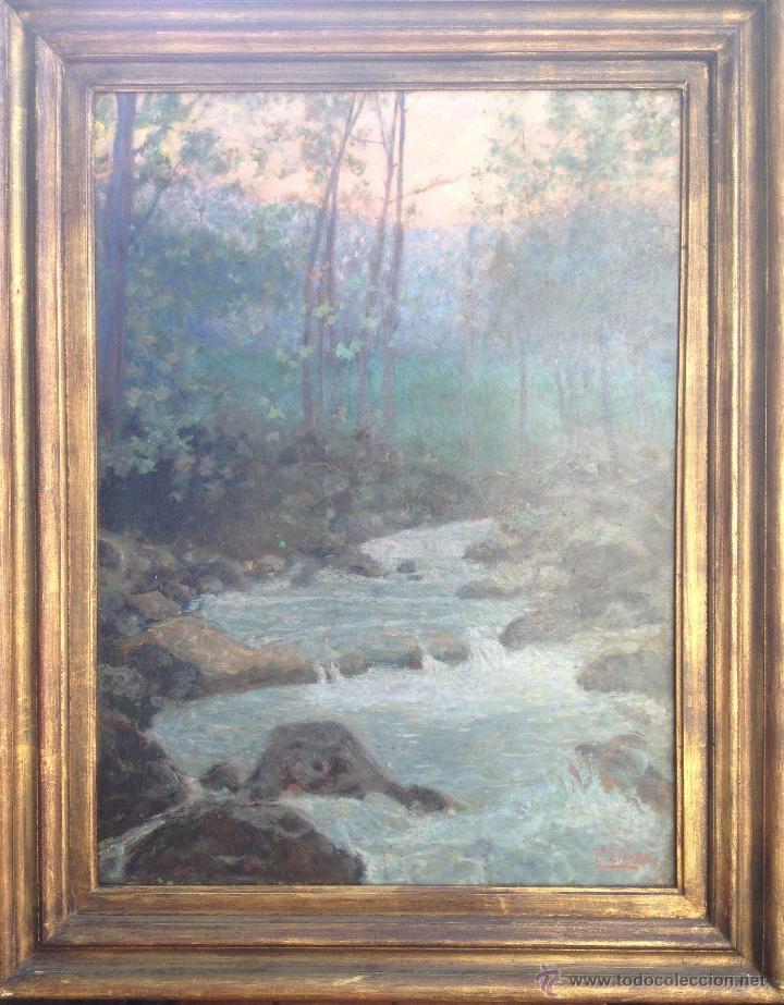 FRANCISCO LLORENS DÍAZ (1874-1948) - PINTOR ESPAÑOL - ÓLEO SOBRE CARTÓN (Arte - Pintura - Pintura al Óleo Moderna sin fecha definida)
