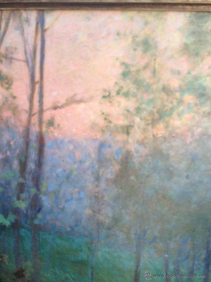 Arte: Francisco LLORENS DÍAZ (1874-1948) - Pintor Español - Óleo sobre cartón - Foto 4 - 50811422