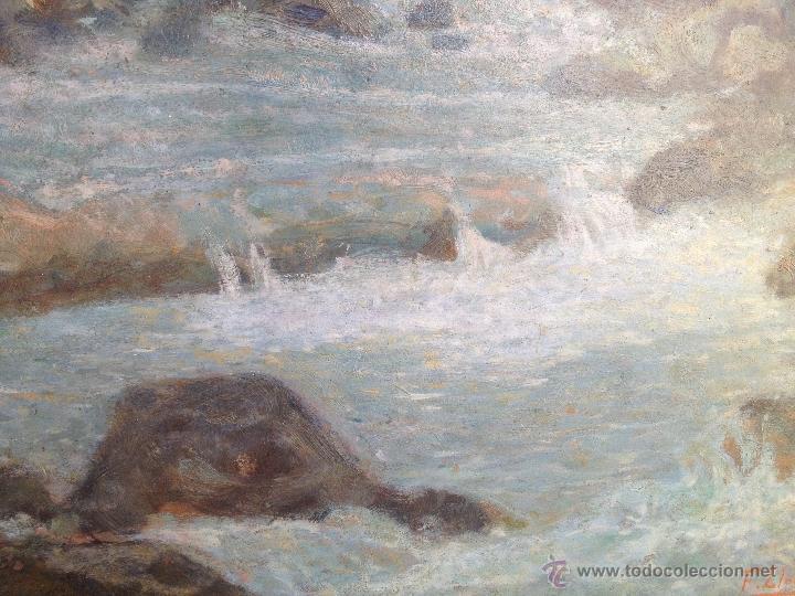 Arte: Francisco LLORENS DÍAZ (1874-1948) - Pintor Español - Óleo sobre cartón - Foto 5 - 50811422