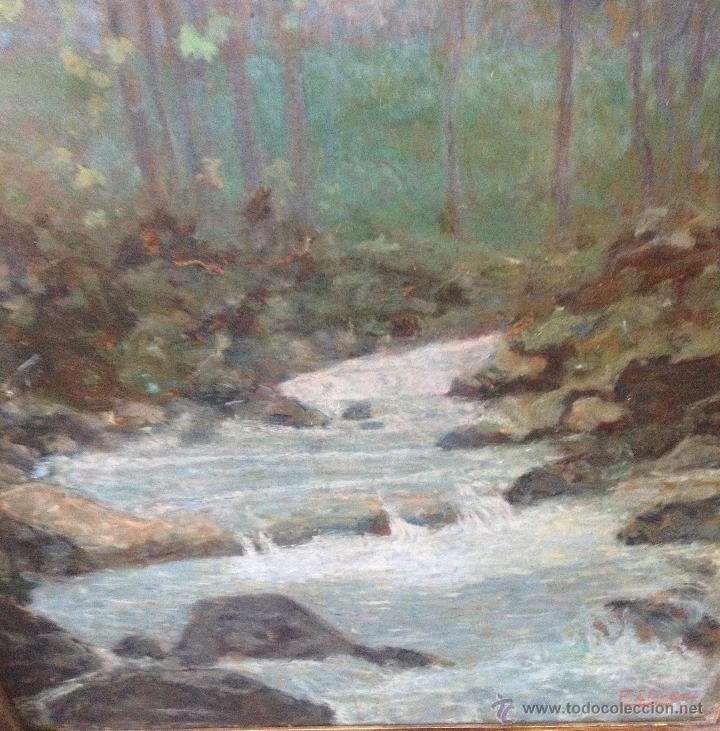 Arte: Francisco LLORENS DÍAZ (1874-1948) - Pintor Español - Óleo sobre cartón - Foto 6 - 50811422