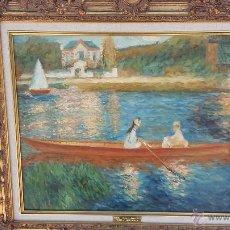 Arte: LA SEINE A ASNIERES. LA BARQUE 1879. Lote 130939581