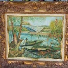 Arte: LA PECHE AU PRINTEMPS, PONT DE CLICHY 1887. Lote 50825231