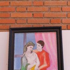 Arte: OLEO SOBRE TELA COPIA DE LOS AMANTES DE PICASSO. Lote 50846366