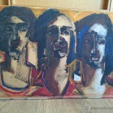 Arte: ESTUDIO DE RETRATOS PINTURA MODERNA AÑOS 60'S ESCUELA FRANCESA FIRMADO GUY ADAM. Lote 50910417