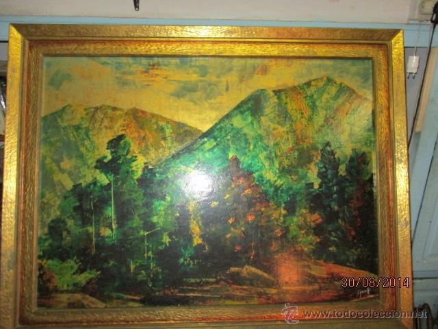 Arte: PAISAJE PINTADO EN TABLA FIRMADO,DEL ESCULTOR CATALA JAIME Perelló, año 1980 (ver fotos) - Foto 2 - 50988144