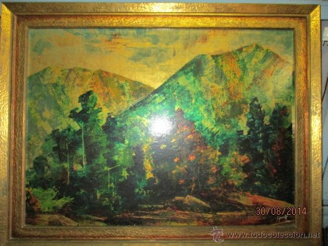 Arte: PAISAJE PINTADO EN TABLA FIRMADO,DEL ESCULTOR CATALA JAIME Perelló, año 1980 (ver fotos) - Foto 3 - 50988144