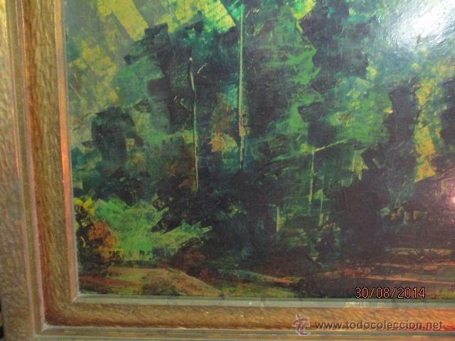 Arte: PAISAJE PINTADO EN TABLA FIRMADO,DEL ESCULTOR CATALA JAIME Perelló, año 1980 (ver fotos) - Foto 6 - 50988144