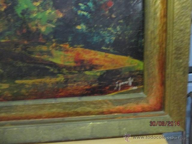 Arte: PAISAJE PINTADO EN TABLA FIRMADO,DEL ESCULTOR CATALA JAIME Perelló, año 1980 (ver fotos) - Foto 8 - 50988144