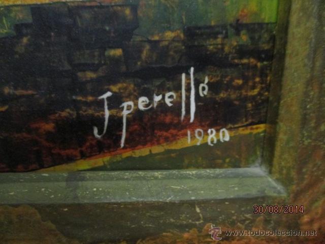 Arte: PAISAJE PINTADO EN TABLA FIRMADO,DEL ESCULTOR CATALA JAIME Perelló, año 1980 (ver fotos) - Foto 9 - 50988144