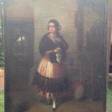 Arte: JOAQUÍN DOMINGUEZ BÉCQUER (1817-1879) - PINTOR ESPAÑOL - ÓLEO SOBRE TELA, PEGADA A CARTÓN.. Lote 51000878