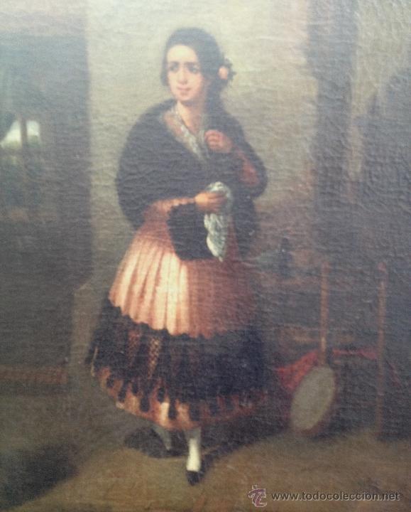 Arte: Joaquín DOMINGUEZ BÉCQUER (1817-1879) - Pintor Español - Óleo sobre tela, pegada a cartón. - Foto 2 - 51000878