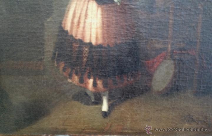 Arte: Joaquín DOMINGUEZ BÉCQUER (1817-1879) - Pintor Español - Óleo sobre tela, pegada a cartón. - Foto 3 - 51000878