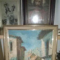 Arte: OLEO SOBRE TABLA CALLES CASAS . Lote 51001822