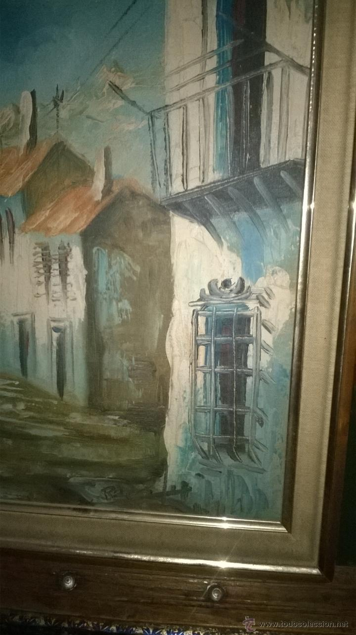 Arte: Oleo sobre tabla calles casas - Foto 4 - 51001822